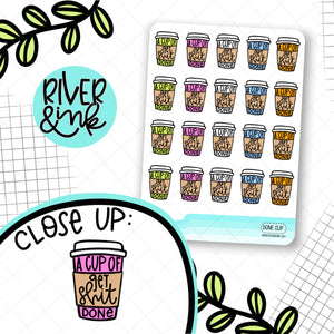 Cup of Get Shit Done | Hand Drawn Planner Stickers