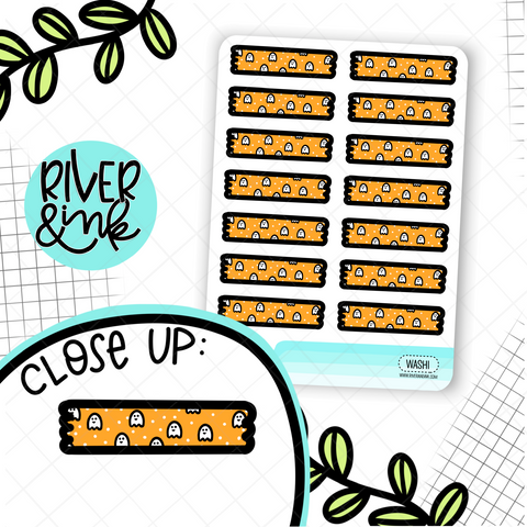 Ghost  Washi Strips | Hand Drawn Planner Stickers
