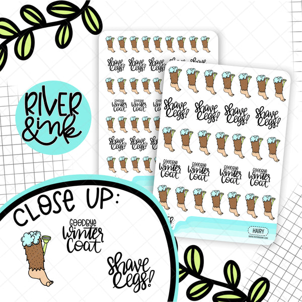 Hairy Legs Biggie Sass Planner Character | Planner Stickers