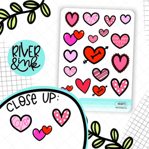 Heart Deco | Hand Drawn Planner Stickers