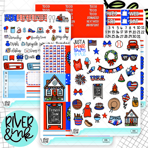 Hometown Holiday | Weekly Planner Stickers Kit
