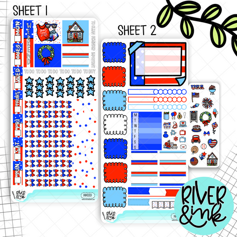 Hometown Holiday | Hobonichi Weeks Sticker Kit