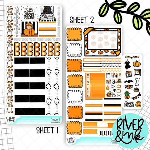 Happy Haunting Halloween | Hobonichi Weeks Sticker Kit