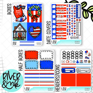 Hometown Holiday | Mini Weekly Planner Stickers Kit