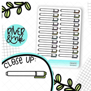 Highlighter Pen | Hand Drawn Planner Stickers