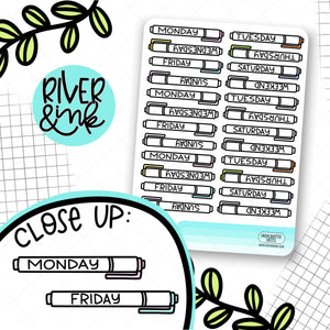 Highlighter Pen Date Covers | Planner Stickers