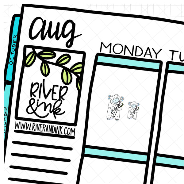 Highlighter Ygritte Planner Character | Hand Drawn Planner Stickers