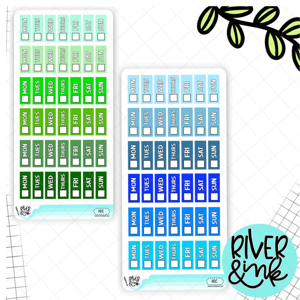 Rainbow Solid Date Cover Hobonichi Weeks | Planner Stickers