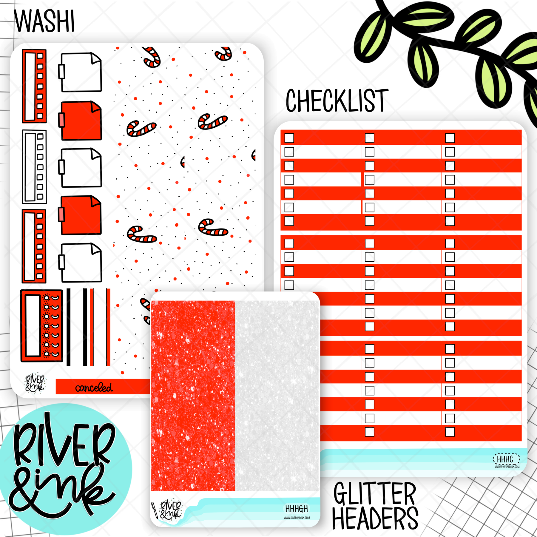 Ho Ho Holidays Christmas | Weekly Vertical Planner Stickers Kit Add Ons