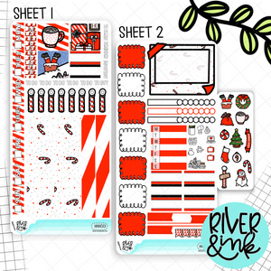 Ho Ho Holidays Christmas | Hobonichi Weeks Sticker Kit Planner Stickers