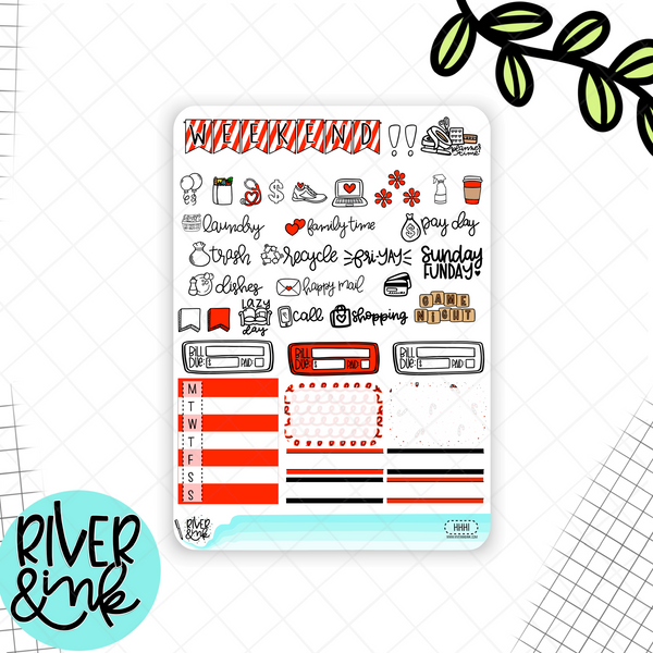 Ho Ho Holidays Christmas | Weekly Vertical Planner Stickers Kit