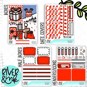 Ho Ho Holidays Christmas | Mini Weekly Planner Stickers Kit