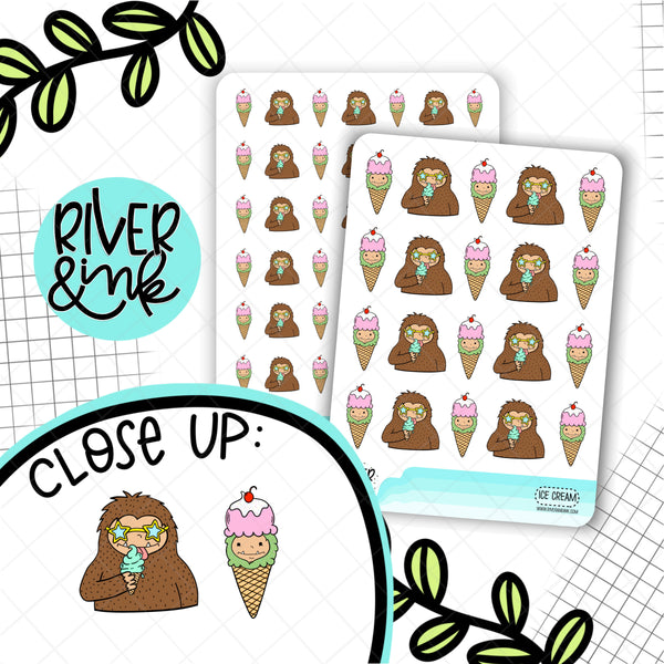 Ice Cream Biggie Sass Planner Character | Planner Stickers