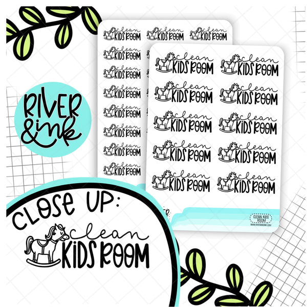 Clean Kids Room | Hand Lettered Planner Stickers