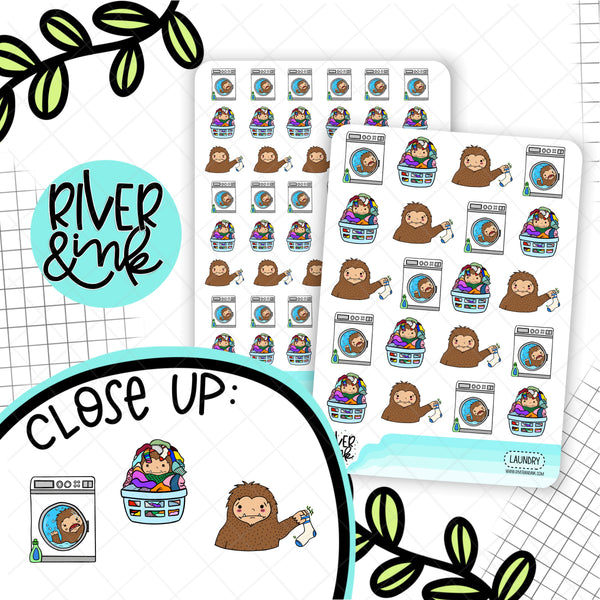 Laundry Biggie Sass Planner Character | Hand Drawn Planner Stickers