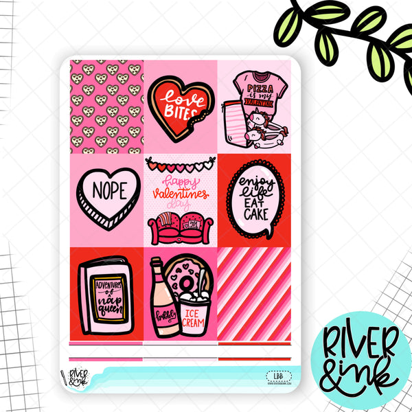 Love Bites Valentines | Weekly Vertical Planner Stickers Kit