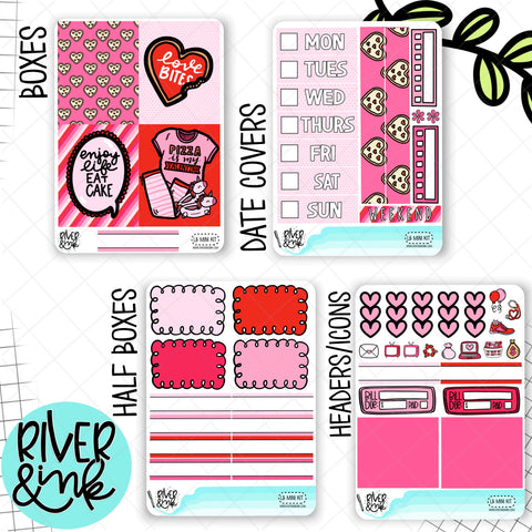 Love Bites Valentines | Mini Weekly Planner Stickers Kit
