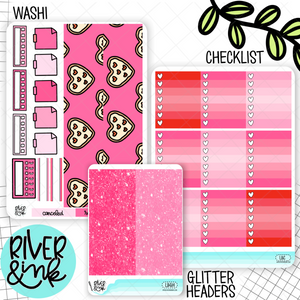 Love Bites Valentines | Weekly Vertical Planner Stickers Kit Add Ons