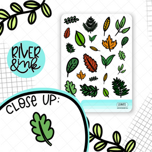 Leaves | Hand Drawn Planner Stickers
