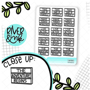 Lightbox Quotes | Hand Lettered Planner Stickers
