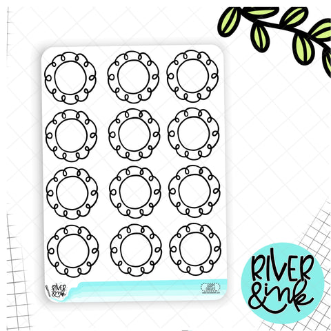 Loopy Circle Frame | Hand Drawn Planner Stickers