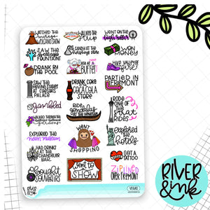 Las Vegas Bucket List | Hand Lettered Planner Stickers
