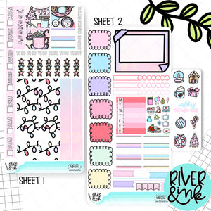 Merry and Bright Christmas Hobonichi Weeks Kit | Planner Stickers