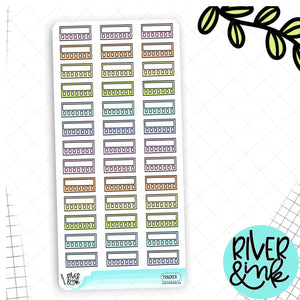 Pastel Mini Tracker Hobonichi Weeks | Planner Stickers