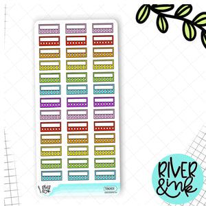 Rainbow Mini Tracker Hobonichi Weeks | Planner Stickers