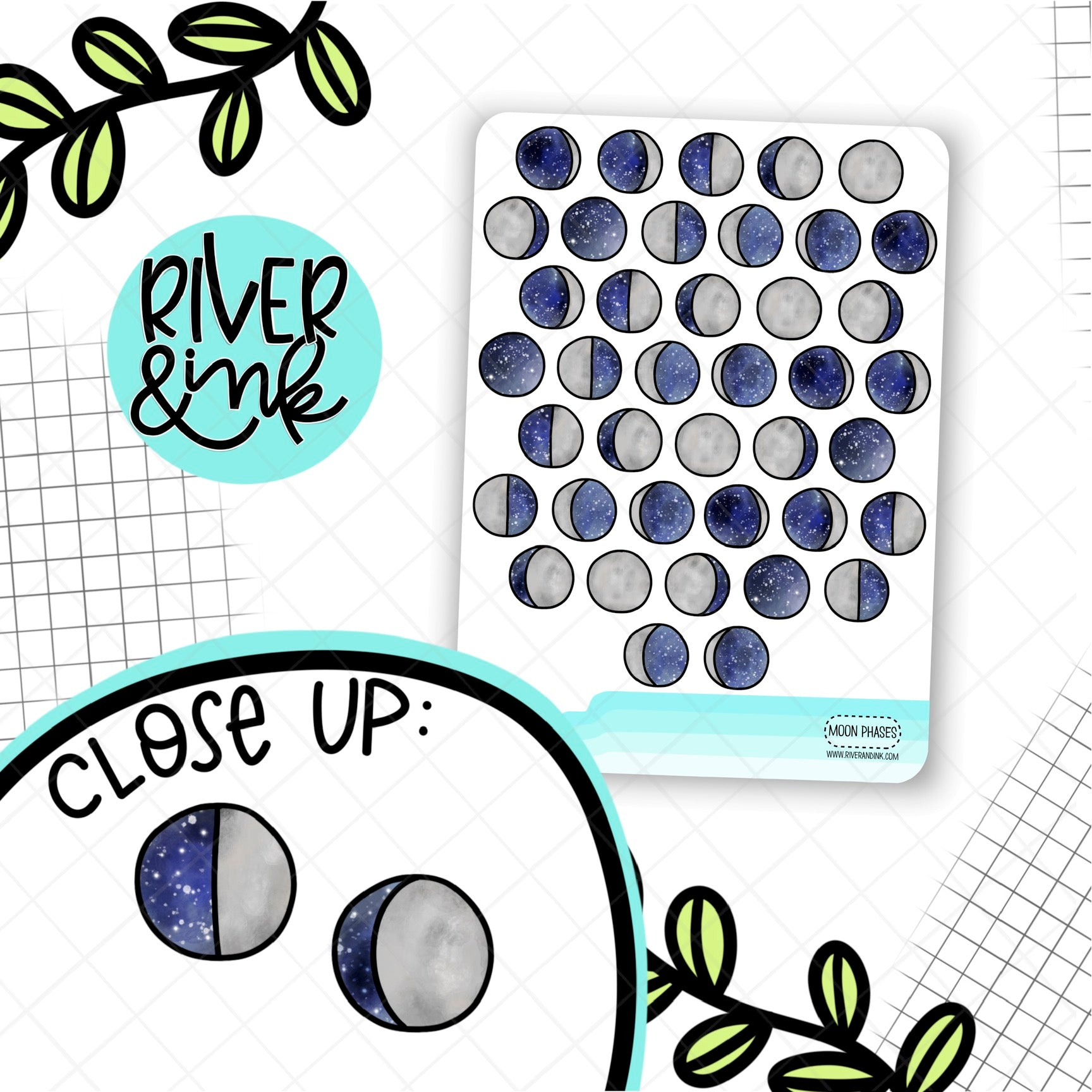 Moon Phases | Planner Stickers
