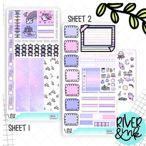 Narwhal Sparkles Hobonichi Weeks Kit | Planner Stickers