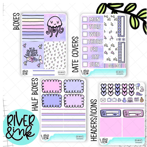 Narwhal Sparkles | Mini Weekly Planner Stickers Kit