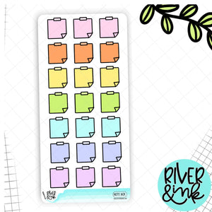 Pastel Notes Box  | Hobonichi Weeks Planner Stickers