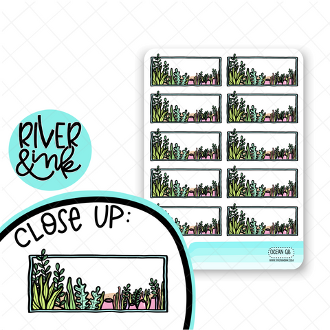 Ocean Quarter Box | Hand Drawn Planner Stickers