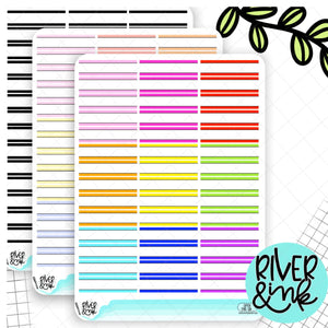 Open Ended Quarter Boxes | Planner Stickers