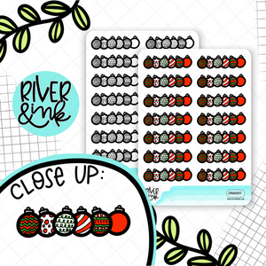 Ornament Dividers | Hand Lettered Planner Stickers
