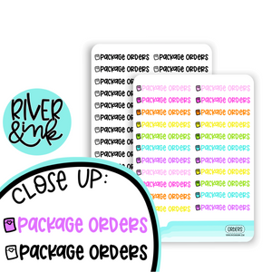 Package Orders | Hand Lettered Planner Stickers