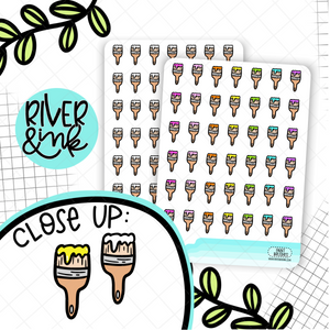 Paint Brushes Icons | Hand Drawn Planner Stickers