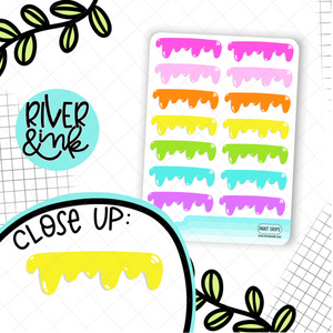 Paint Drip Dividers | Hand Drawn Planner Stickers