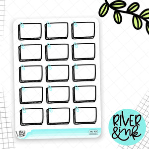 Paperclipped Half Boxes | Planner Stickers
