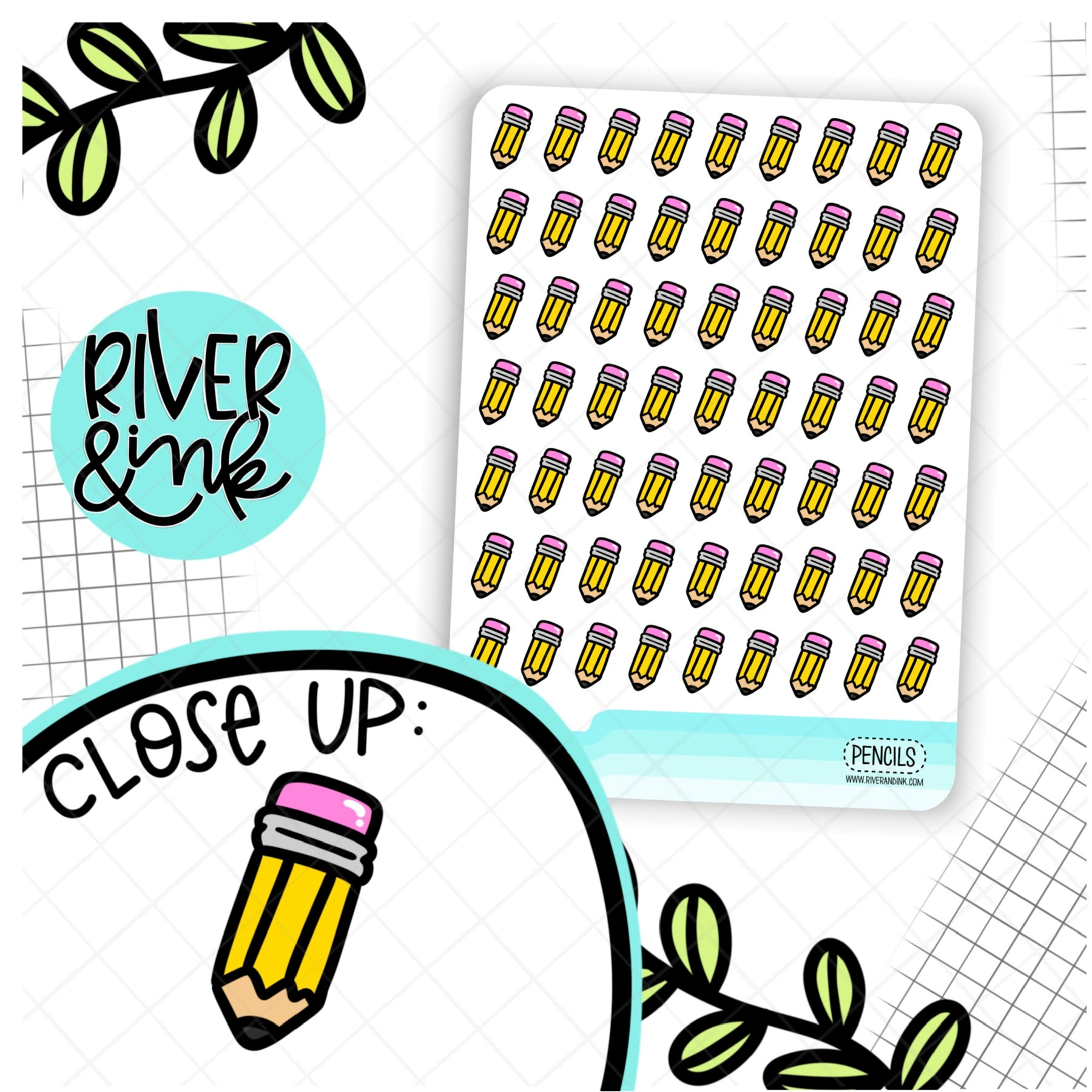 Pencil Icon | Hand Drawn Planner Stickers