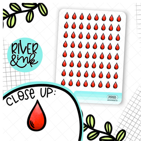 Period Icon Planner Stickers