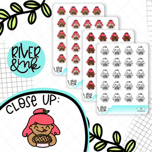 Pie Baking Planner Characters | Hand Drawn Planner Stickers