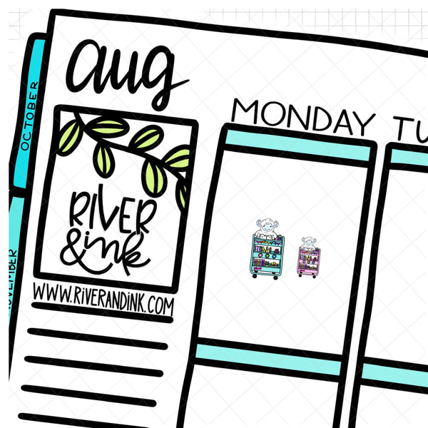 Planner Cart Ygritte Planner Character | Hand Drawn Planner Stickers