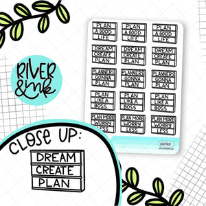 Planner Lightbox Quote | Hand Lettered Planner Stickers