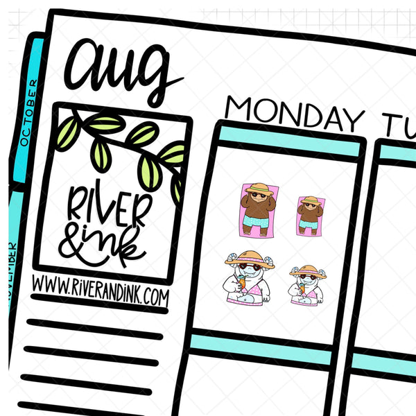 Poolside Biggie Sass Ygritte Planner Character | Hand Drawn Planner Stickers