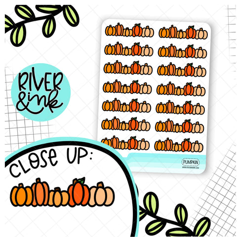 Pumpkin Divider | Hand Drawn Planner Stickers