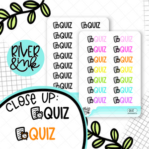 Quiz | Hand Lettered Planner Stickers