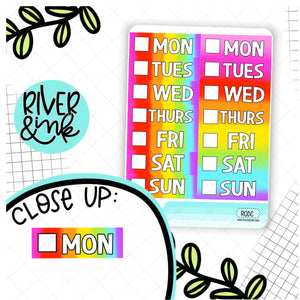 Rainbow Ombre Date Cover | Planner Stickers
