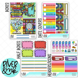 Reading Rainbow | Mini Weekly Planner Stickers Kit